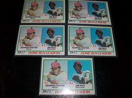 LOT OF 5 - JIM RICE 1978 Topps #202 77 HR leader - Boston Red Sox baseba... - $1.85