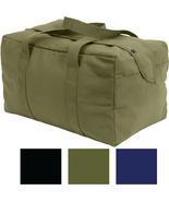 Canvas Small Cargo Bag Mini Parachute Hand Carry Duffle Military Tactica... - $17.99