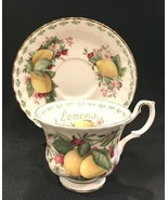 Royal Albert LEMONS Covent Gardens Fruit Series Cup & Saucer Set  - $49.99