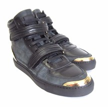 SgSwaEijMd 41 Marked HiTop New Size Shoes S Leather 8 Leeman US Sneakers Black 963366 qE1xwUZ