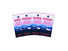 Nordi by Fazer Naturally Flavored Dark Chocolate Bars, Raspberry and Tangy Licor - $24.74