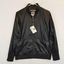 New Footjoy Womens Zip Up Jacket Medium M Black 27587 DWR Shell FJ Golf - $37.21