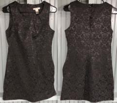 Forever Womens Cotton Stretch Little Black Dress Medium Baroque Regal Pa... - $16.51
