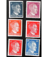104   lot of 6 1941  wwii  adolph hitler third reich stamps unused 1 thumbtall