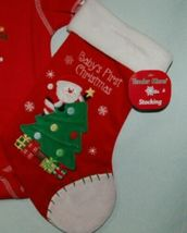 Tender Kisses All Mommy Wants for Christmas Red Bodysuit  Stocking 0-6 months image 4