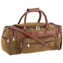 """23"""" Tote Bag Travel Gear Faux Leather Embassy Brown FREE SHIPPING NEW - $29.89"""