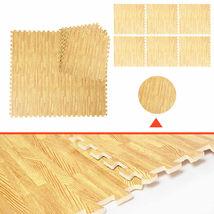 48 Sq Ft EVA Foam Floor Interlocking Mat Show Floor Gym Mat Wood Color - $49.99