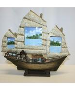 Ceramic Sailboat Triple Picture Frame  - $9.89