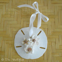 Sand Dollar Christmas Ornament Shell Flower Seashell Coastal Decor Beach #11S image 1