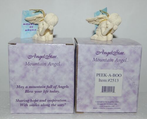 AngelStar 2513 Mountain Angel Peek A Boo Figurine 1 Inch 2 Set