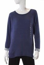 Alfani Women's Hi Low Tunic Pajama Top Long Sleeve Navy Heather XS NWT - $17.81