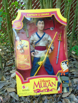 Vintage Captain Li Shang doll 1990s, Disney - $39.99