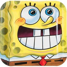 SpongeBob Classic Lunch Plates 8 Per Package Birthday Party Supplies New - $2.92