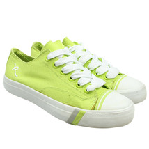 PRO KEDS x Rocawear Lime Green Canvas Lace-up Classic Sneakers Mens 6 / ... - $28.70