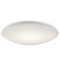 Kichler 10761WHLED Signature Flush Mounts 16in White Plastic 1-light - $119.95