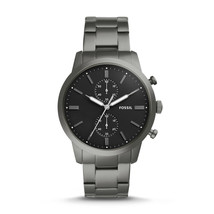 New Fossil Men's Townsman Chronograph Stainless Steel Watch Variety Color image 2