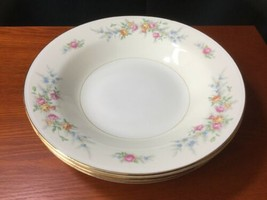 5 Georgian Eggshell Cashmere Flat Rim Soup Bowls Homer Laughlin - $21.78