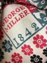 1842 antique GEORGE MILLER WOVEN COVERLET blanket BEDSPREAD red/green/brown - $695.00