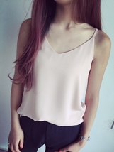 Summer Sleeveless Tank Top Lady Pink Chiffon Tops Wedding Bridesmaid Top Blouses image 11