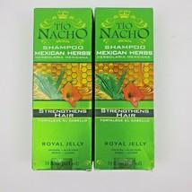 2X Tio Nacho Shampoo Mexican Herbs Strengthens Hair with Royal Jelly 14o... - $21.95