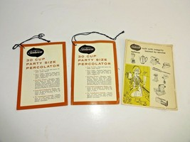 1968 Sunbeam AP-W - 30 Cup Party Percolator Replacement Part - Instructi... - $14.58