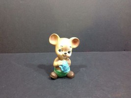 Vintage 1986 Lefton Japan Teddy Bear with Teapit Flower Pot # 7340 - $24.30