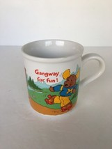 Mug Get Along Gang Gangway for Fun Stoneware Kids Cocoa Mouse Bear Wolf - $9.89