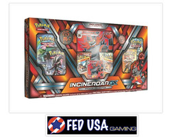 Pokemon TCG Incineroar GX Premium Collection Box SM Guardians Rising Packs Cards - $49.99