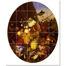 Adelheid Dietrich Flowers Painting Ceramic Tile Mural BTZ22305 - $300.00 - $1,800.00