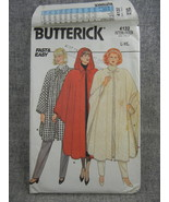 Misses L-XL16-22 Cape Butterick 4132 Evening wear Fast and Easy    UC FF - $9.00