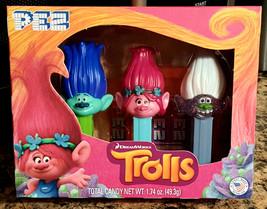 TROLL PEZ Candy Dreamworks NEW Trolls Set 3 Poppy Branch Guy Diamond SEA... - $17.79