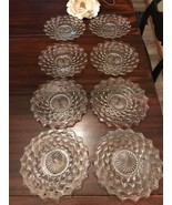 """Fostoria American Cube Crystal Clear 7 3/4"""" SALAD/Dessert PLATE 8 AVAILABLE - $4.95"""