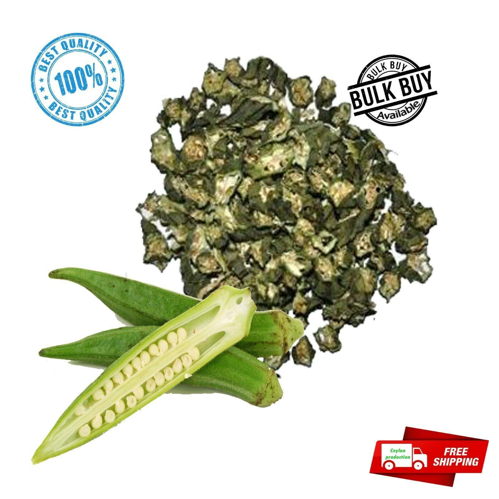Okra/ladies'finger slices dried  for Soups premium quality organic Ceylon - $5.66 - $159.89