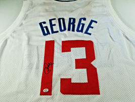 PAUL GEORGE / AUTOGRAPHED LOS ANGELES CLIPPERS WHITE CUSTOM JERSEY / COA - £128.55 GBP