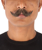 Men's Stylish Moustache Set   Dark Brown Cosplay Facial Hair M-1295 - £13.37 GBP