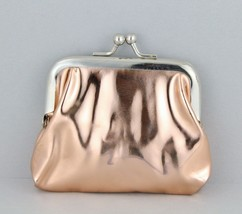 "Copper iridescent coin change purse pouch kiss lock snap top 3.25""  opal... - $4.41"