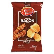 1 Bag Yum Yum Smokey Bacon Potato Chips Size 200g From Canada FRESH & DE... - $12.17