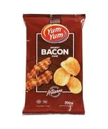1 Bag Yum Yum Smokey Bacon Potato Chips Size 200g From Canada FRESH & DE... - $12.17