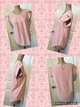 New! Ladies Blouse Size X-Large Rose Color Cap Sleeve 65% Cotton 35% Pol... - $7.91
