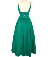 80s Jessica McClintock Gunne Sax Blue Green Iridescent Taffeta Lace Up B... - $163.00
