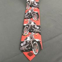 Harley Davidson Motorcycles Ralph Marlin Neck Tie Harley Custom Softail 1994  image 8