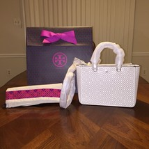 NWT TORY BURCH ROBINSON PERFORATED SMALL MULTI TOTE NEW IVORY - $345.59