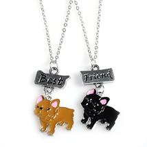 2pcs/Set Jewelry Best Friends Charm Necklaces pendants Cartoon Lovely bu... - $7.35