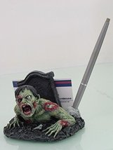 """PTC 9602 Zombie Hand Painted Cold Cast Resin Name Card Holder, 4.06"""", Mu... - €18,53 EUR"""