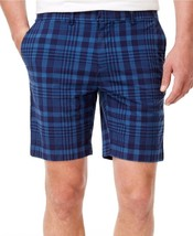 NEW $65 TOMMY HILFIGER BLUE MATHEW PLAID 9'' CASUAL SHORTS SIZE 40**WITH... - £15.50 GBP