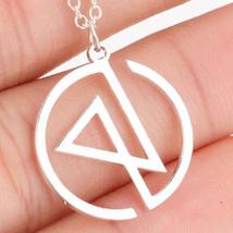 Silver Linkin Park Rock Band Musician Necklace Chester Bennington Band G... - $52.00