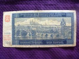 Bohemia & Moravia 100 Korun 20th August 2nd Auflage 1940 Czechoslovakia - $9.99