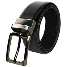 Berlioni Italy Men's 28mm Reversible Cut To Size Leather Dress Belt (194C - Blac