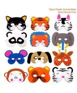 12PCS Kid Masks DIY Animal Birthday Christmas Party Plastic Cat Zebra Mo... - $10.85