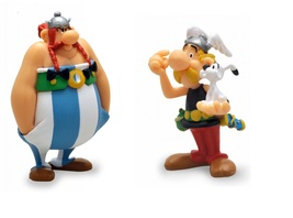 Asterix and Obelix plastic figurine set Plastoy